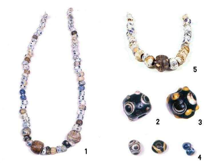 GLASS PASTE PUNIC BEADS. THE TALAYOTC  JEWELS